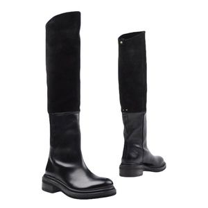Buttero Suede Knee High Leather & Suede Boots